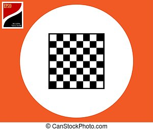 Icon chessboard for a game of chess checkers