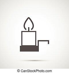 Icon Christmas candle for holiday season.