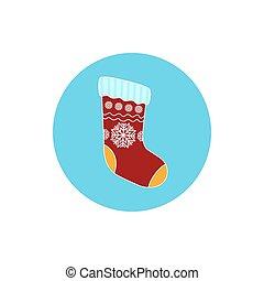 Icon Christmas Colorful Sock