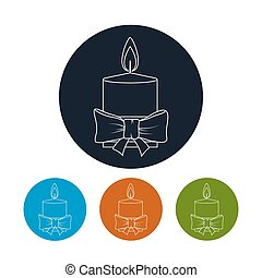 Icon Christmas Festive Candle