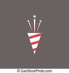 Icon Christmas slapstick for holiday season.