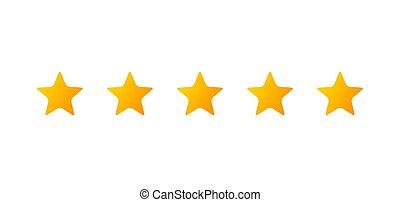 icon., cinco, estrelas
