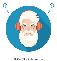 icon., claus, santa, figure