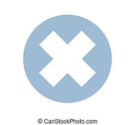 icon close button