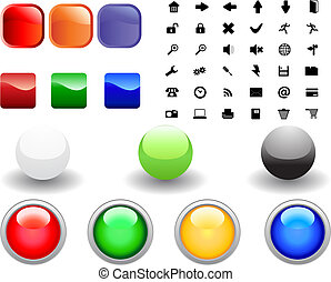 icon collection - Collection of different icons for using in...