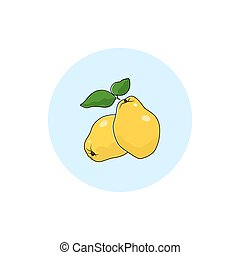 Icon Colorful Quince - Quince , Round Icon Colorful Quince ,...