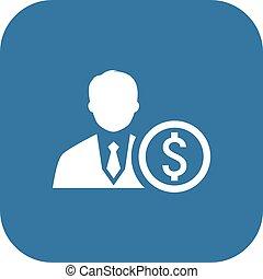 icon., conceito, mentor, negócio
