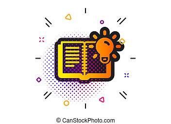 icon., conhecimento, educação, sinal., vetorial, produto, processo