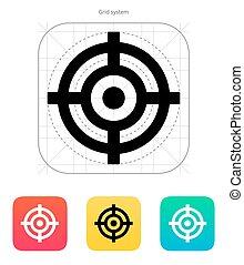 icon., crosshair
