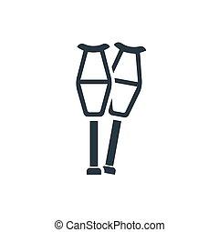 icon crutches - crutch icon