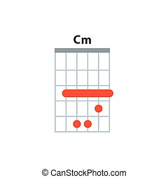 icon., cuerda, guitarra, cm