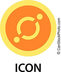 Icon currency icon, flat style