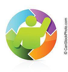 icon cycle illustration design