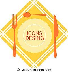 Icon Design Application Development Concept