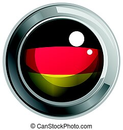 Icon design for flag of Germany