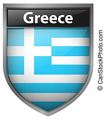Icon design for flag of Greece