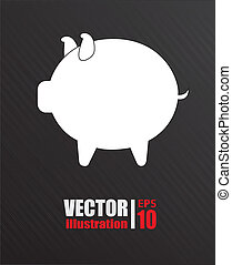 Icon design - Icon desing over black background, vector ...
