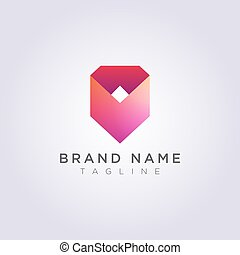 Icon Design Logo Abstract modern shape Geometry