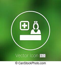 icon doctor closeup medical graphic design vector illustration