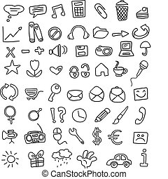 Icon doodles - Doodle icon set