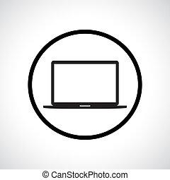icon., draagbare computer