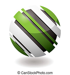 icon droid slant - Green and white icon with slash elements...