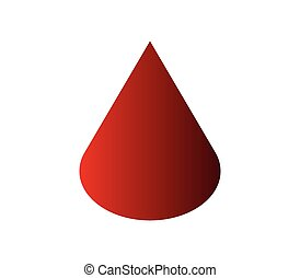 Icon drop of blood