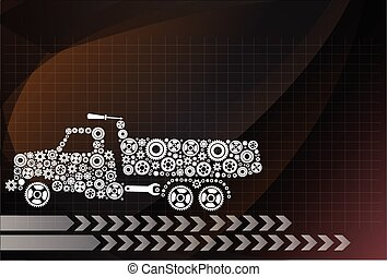 Icon dumpers ,vector Illustration eps 10