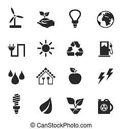 Icon ecology2 - Set of icons ecology. A vector illustration