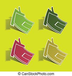 icon., eps, vettore, 10., illustration., casa, sticker.