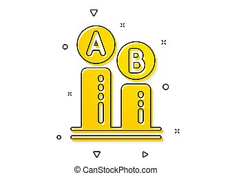 icon., essai, ab, signe., vecteur, essai, ui, diagramme