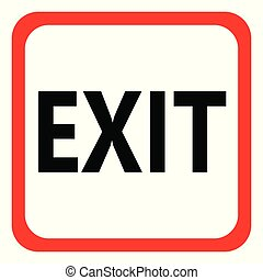 Icon EXIT on white background. Vector illustration.