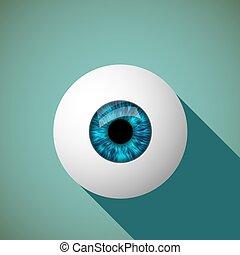 Icon eye. Stock illustration.