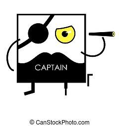 Icon face pirate captain