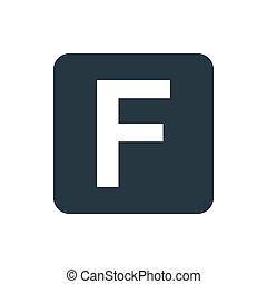 icon facebook - letter F icon