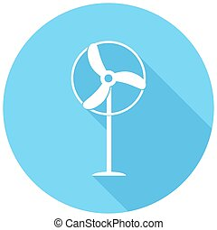 Icon fan with a long shadow