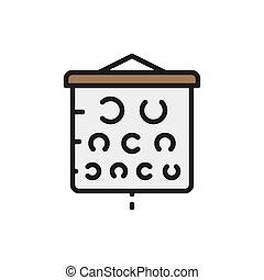 icon., farbe diagramm, pr�fung, vision, linie, wohnung