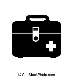 icon first aid kit medical isolated