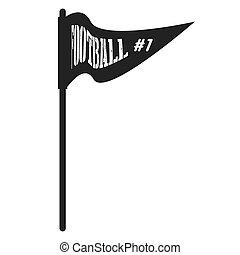 icon flag football american isolated