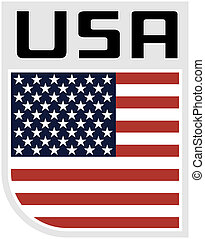 icon Flag United states of america - Illustration an icon of...