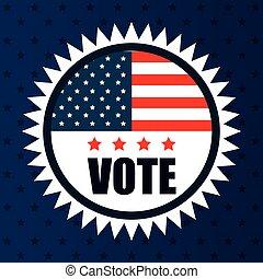icon flag vote usa election graphic
