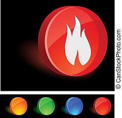 icon., flamme