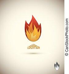icon., flamme, zungen