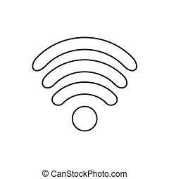 Icon flat design Internet Wi fi symbol. vector illustration