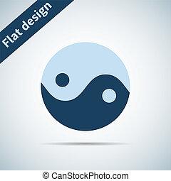 Icon flat element design