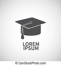 Icon flat  element design graduate cap