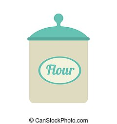 icon flour bowl isolated