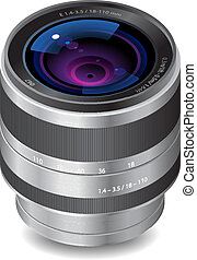 Icon for camera lens. White background. Vector saved as eps-...