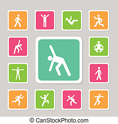 icon for exercise - icon action exercise for use