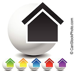 Icon for house, apartment, rent, home, homepage concepts.